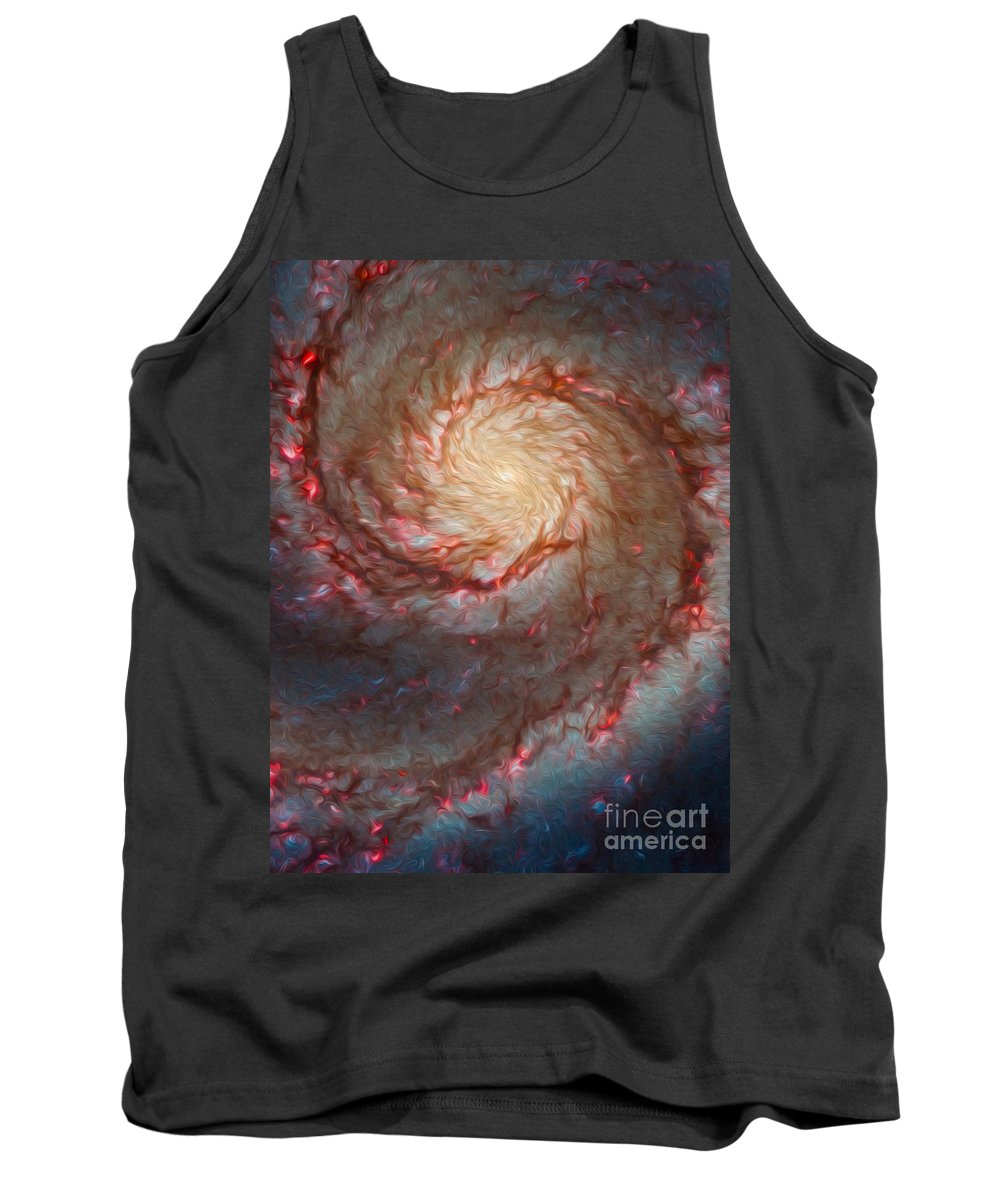 Space Tank Top featuring the digital art Cosmos 9 by Bruce Stanfield