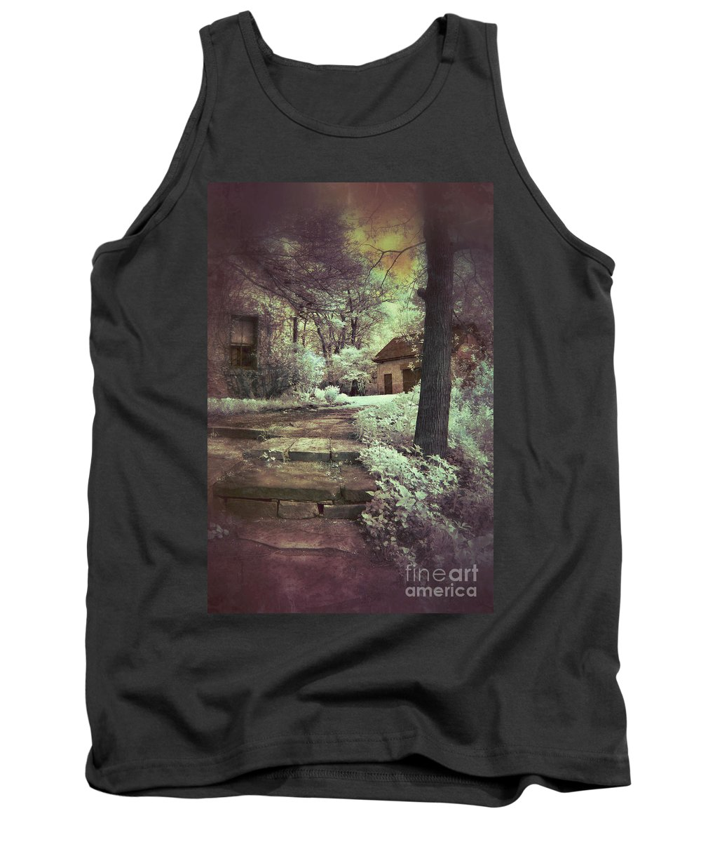 Cabin Tank Top featuring the photograph Cottages In The Woods by Jill Battaglia