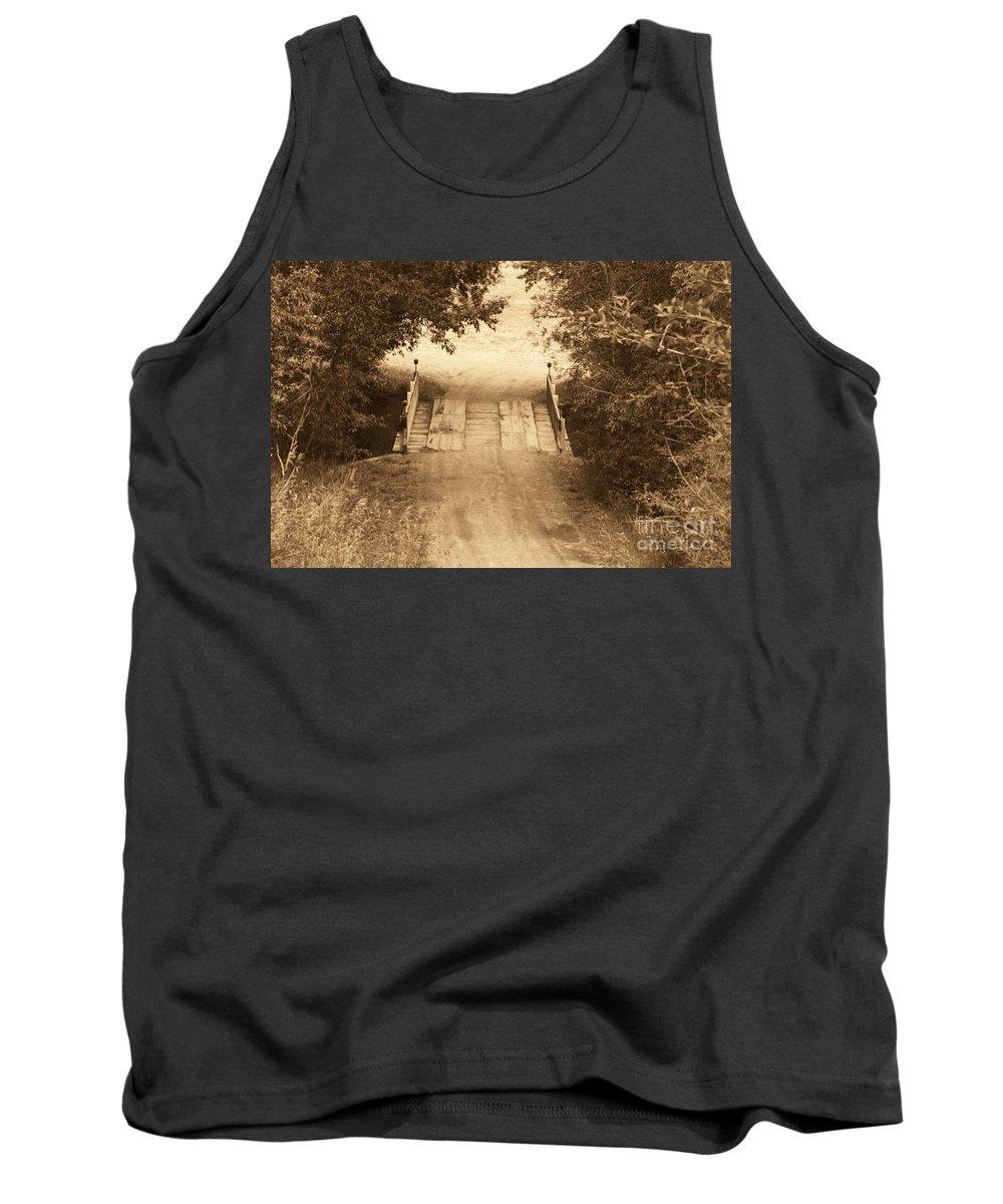 Bridge Tank Top featuring the photograph Country Bridge by Brandi Maher