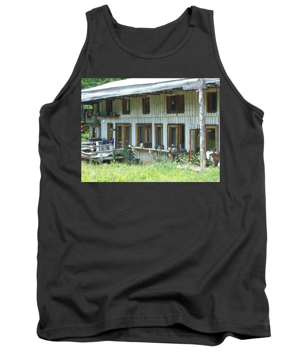Gazing Ball Tank Top featuring the photograph Country Gazing by Derry Murphy