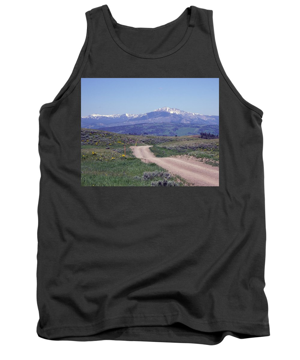 Rocky Mountains Tank Top featuring the photograph Country Roads by Barb Dalton