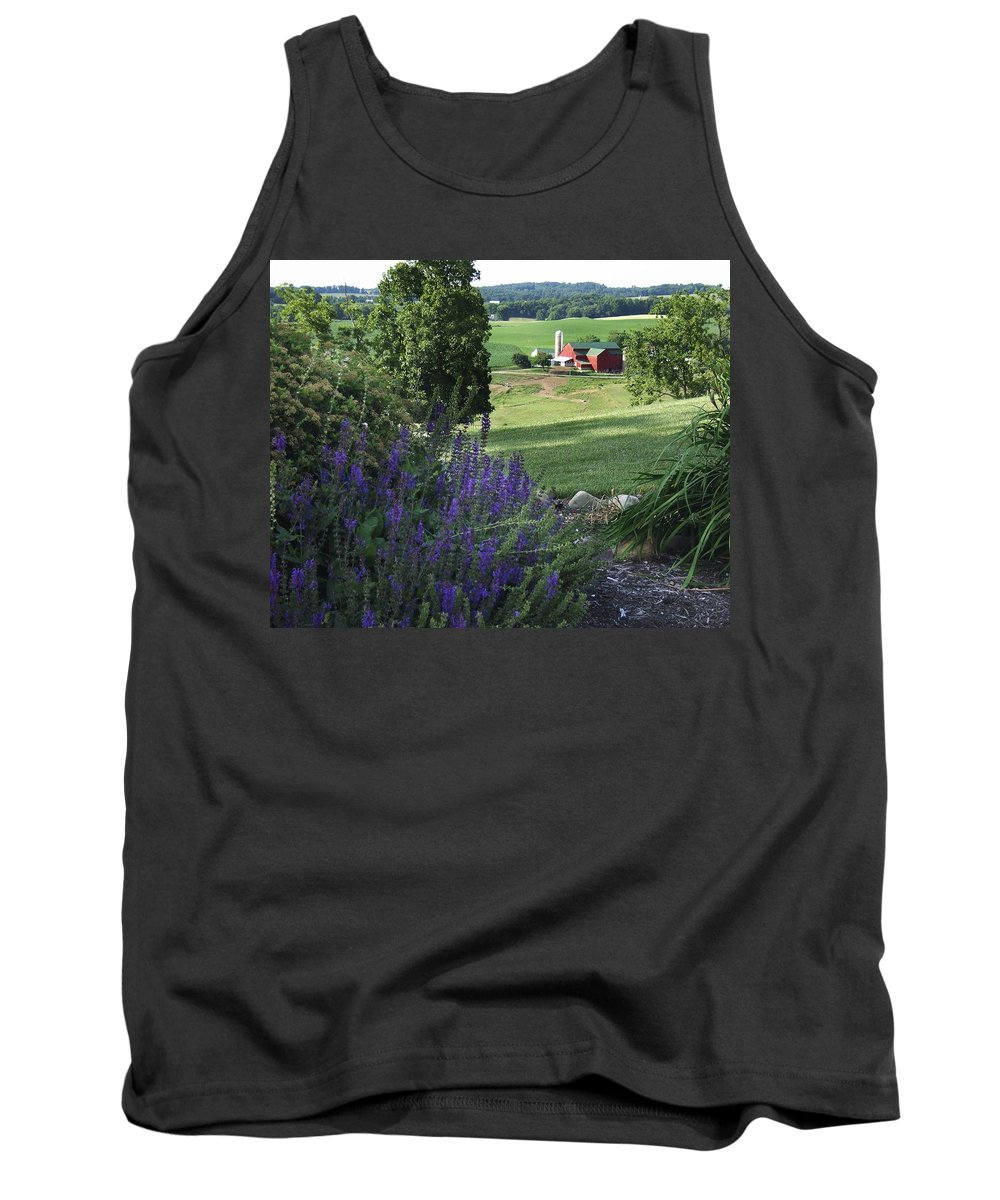 Country Tank Top featuring the photograph Country Valley by Steve Ondrus