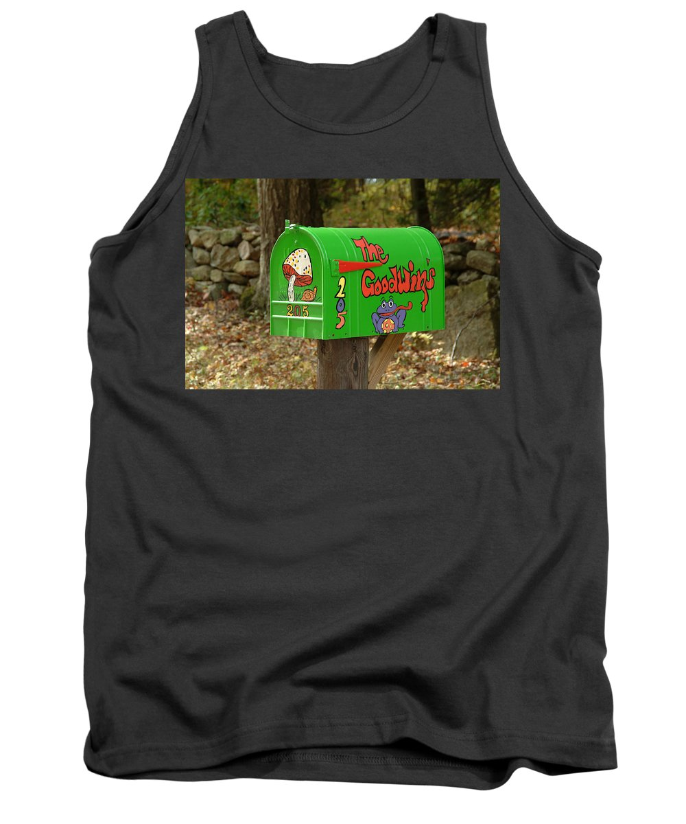 Countryside Tank Top featuring the photograph Countryside Mailbox #15 by Robert DeFosses