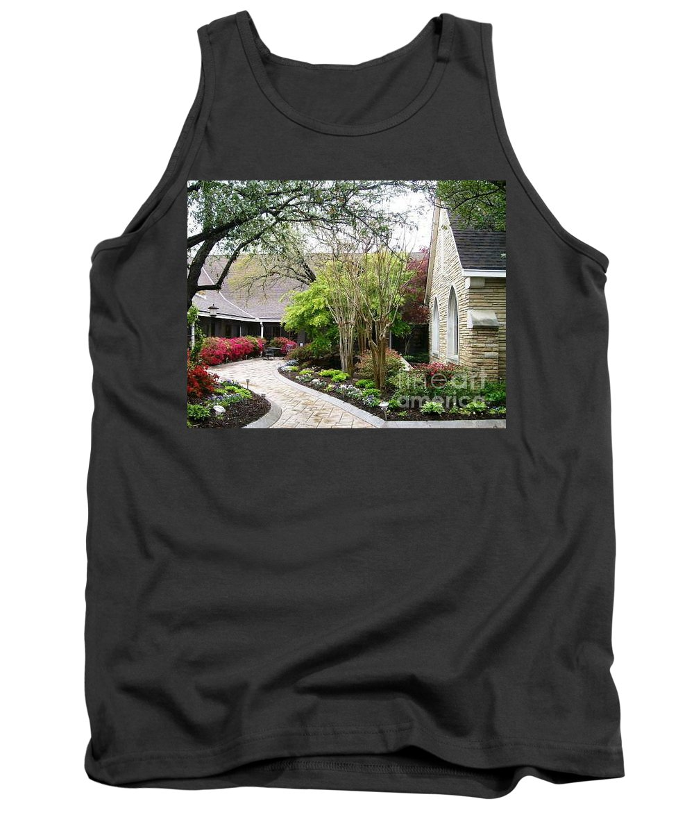 Courtyard Tank Top featuring the photograph Courtyard by Laurie Eve Loftin
