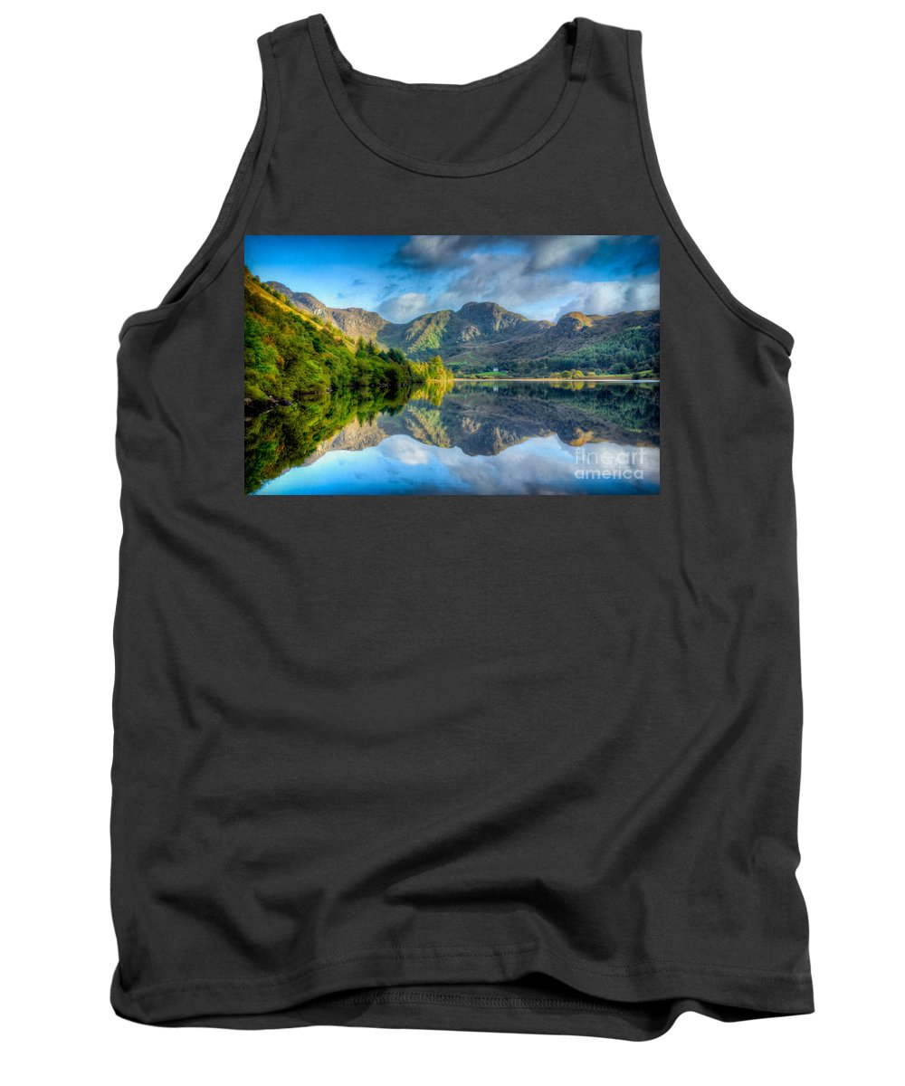 Llyn Grafnant Tank Top featuring the photograph Craf Nant Lake by Adrian Evans