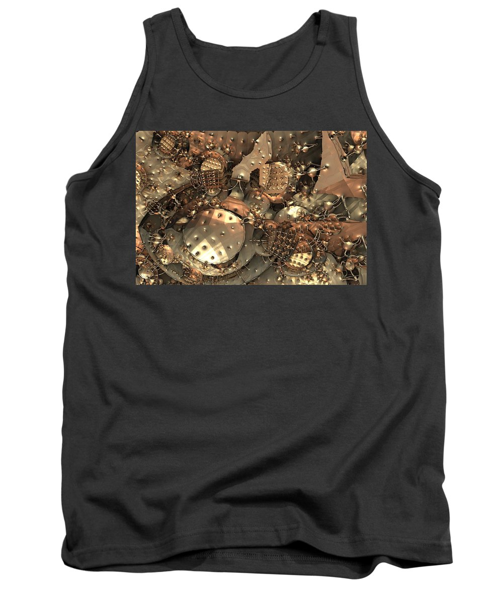 Fractal Tank Top featuring the digital art Crash At Roswell by Lyle Hatch