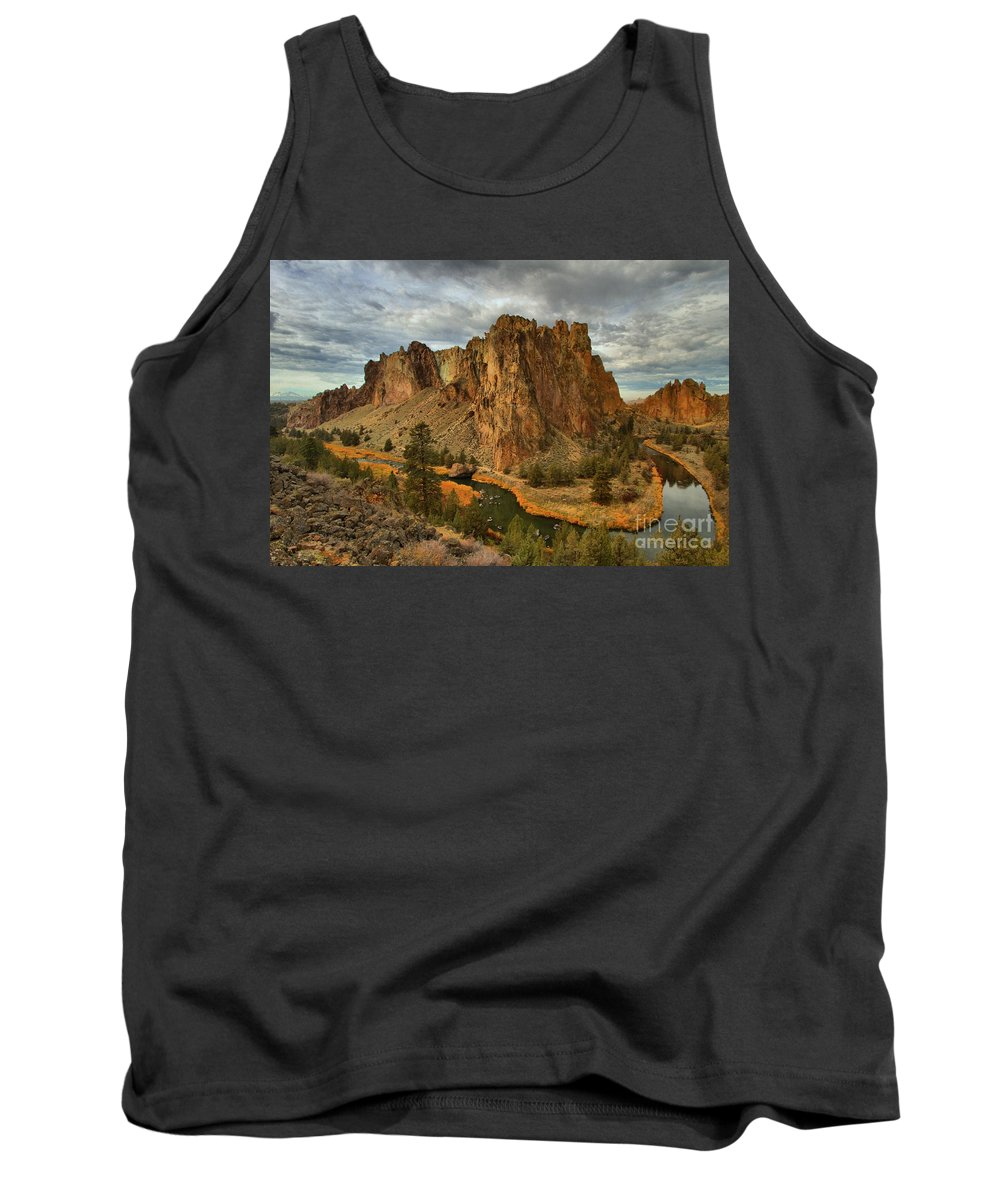 Smith Rock Tank Top featuring the photograph Crooked River Bend by Adam Jewell