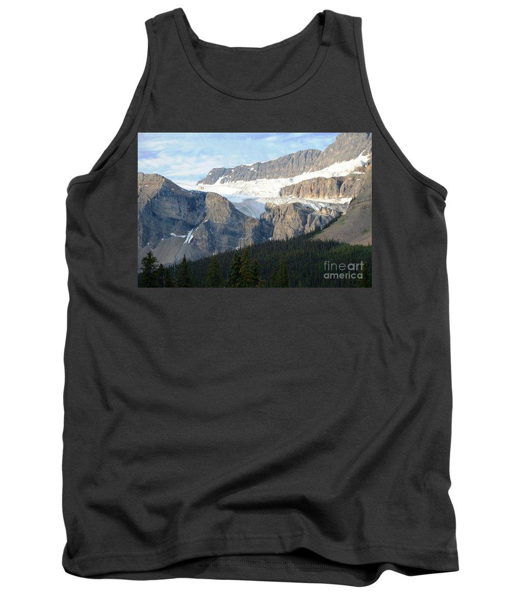 Glacier Tank Top featuring the photograph Crowfoot Glacier by Deanna Cagle