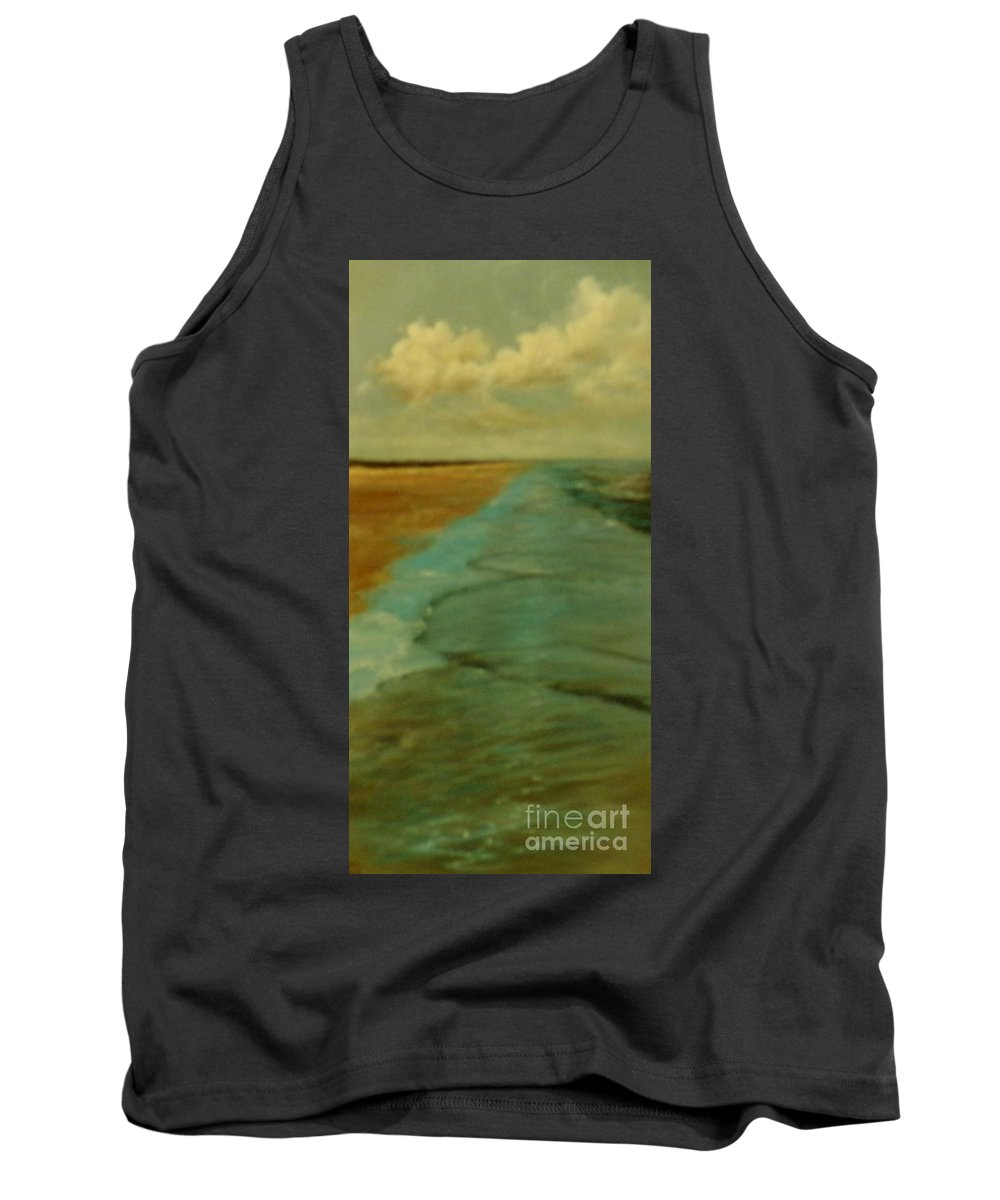 Seascape Tank Top featuring the painting Crystal Beach Texas by Barbara Runyon Fregia