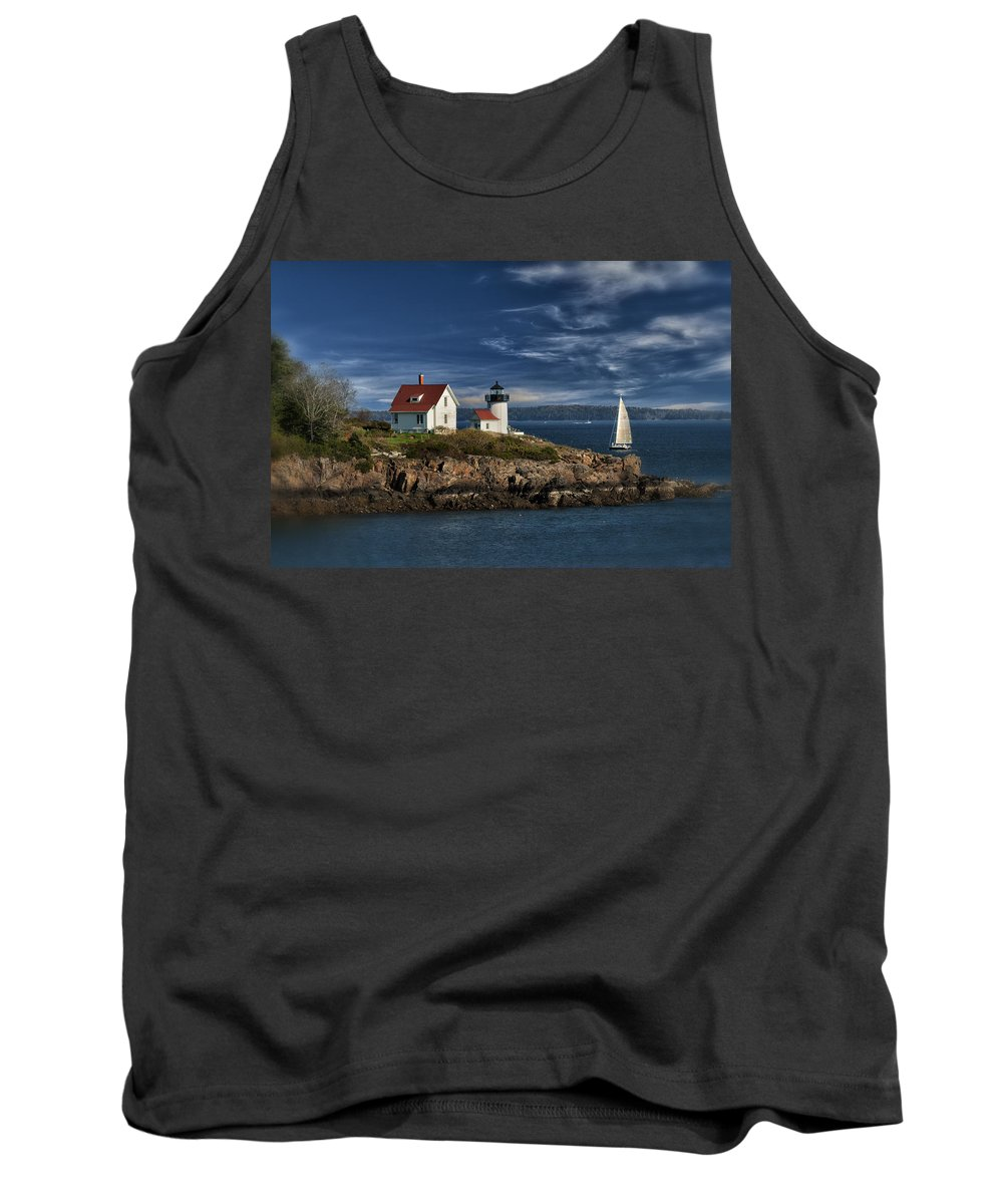 Curtis Island Tank Top featuring the photograph Curtis Island Lighthouse Maine Img 5988 by Greg Kluempers