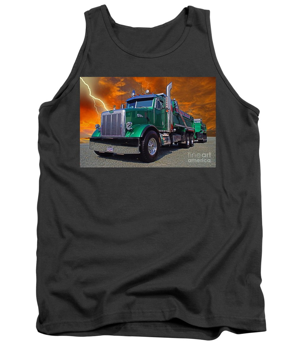 Trucks Tank Top featuring the photograph Custom Gravel Truck Catr0278-12 by Randy Harris