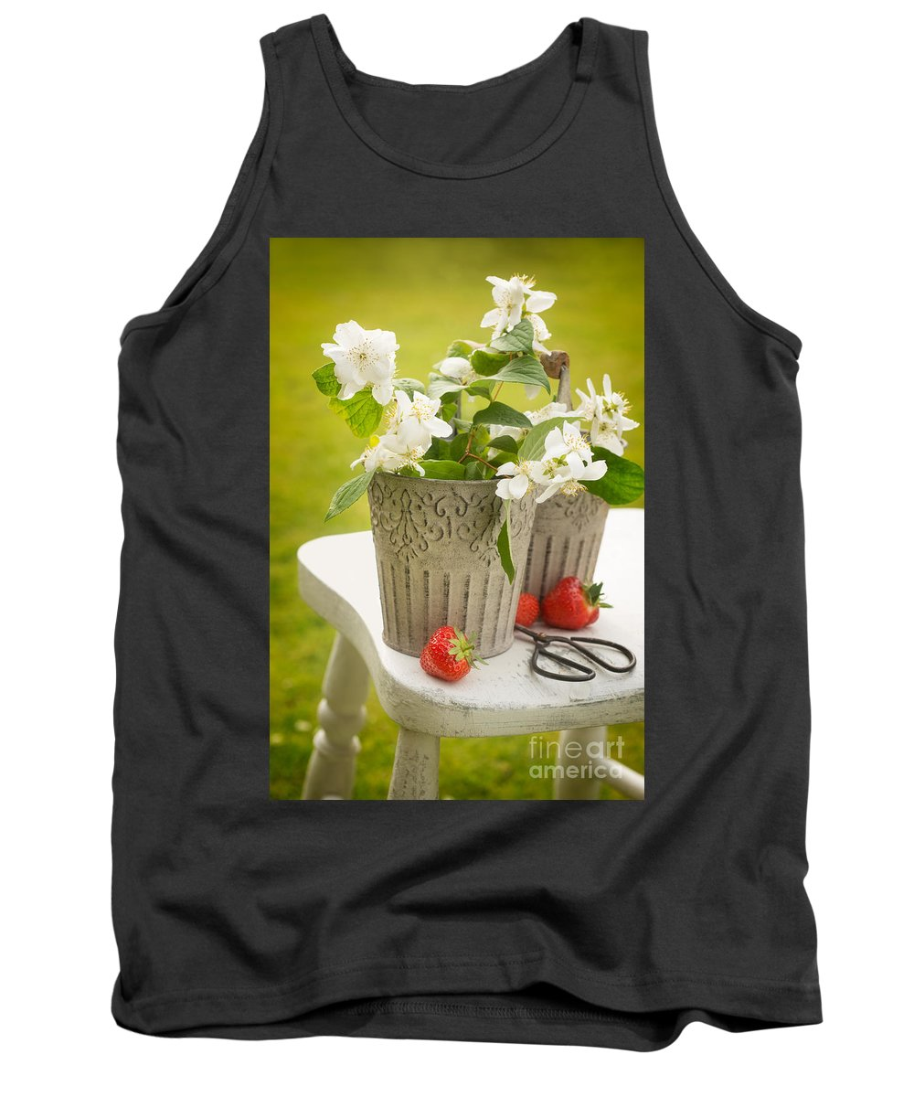 Picking Tank Top featuring the photograph Cutting Orange Blossom by Amanda Elwell