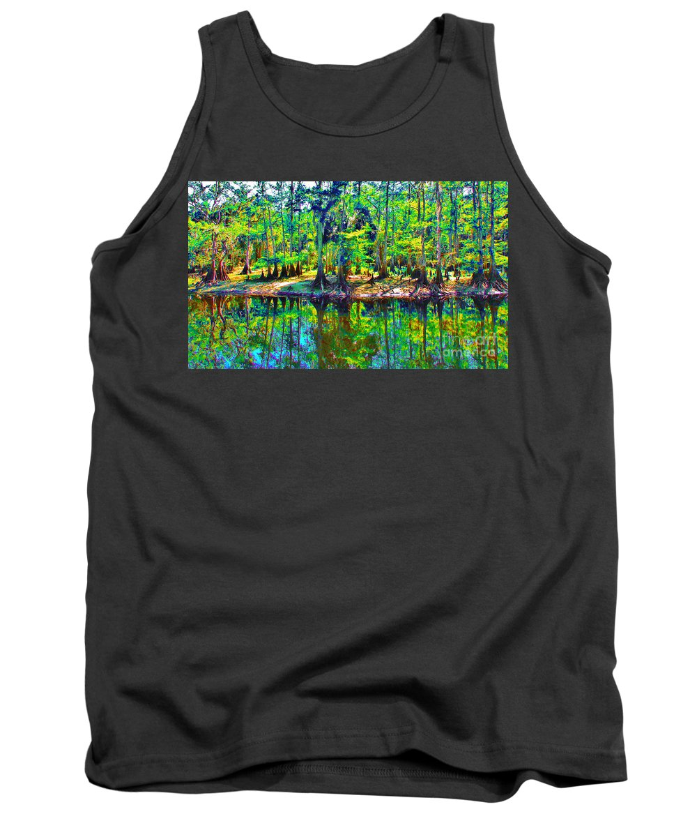 Keri West Tank Top featuring the photograph Cypress Coast by Keri West
