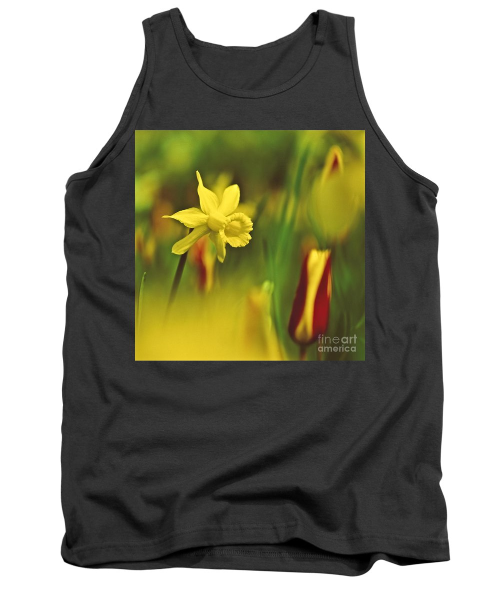 Daff Tank Top featuring the photograph Daffodil by Heiko Koehrer-Wagner