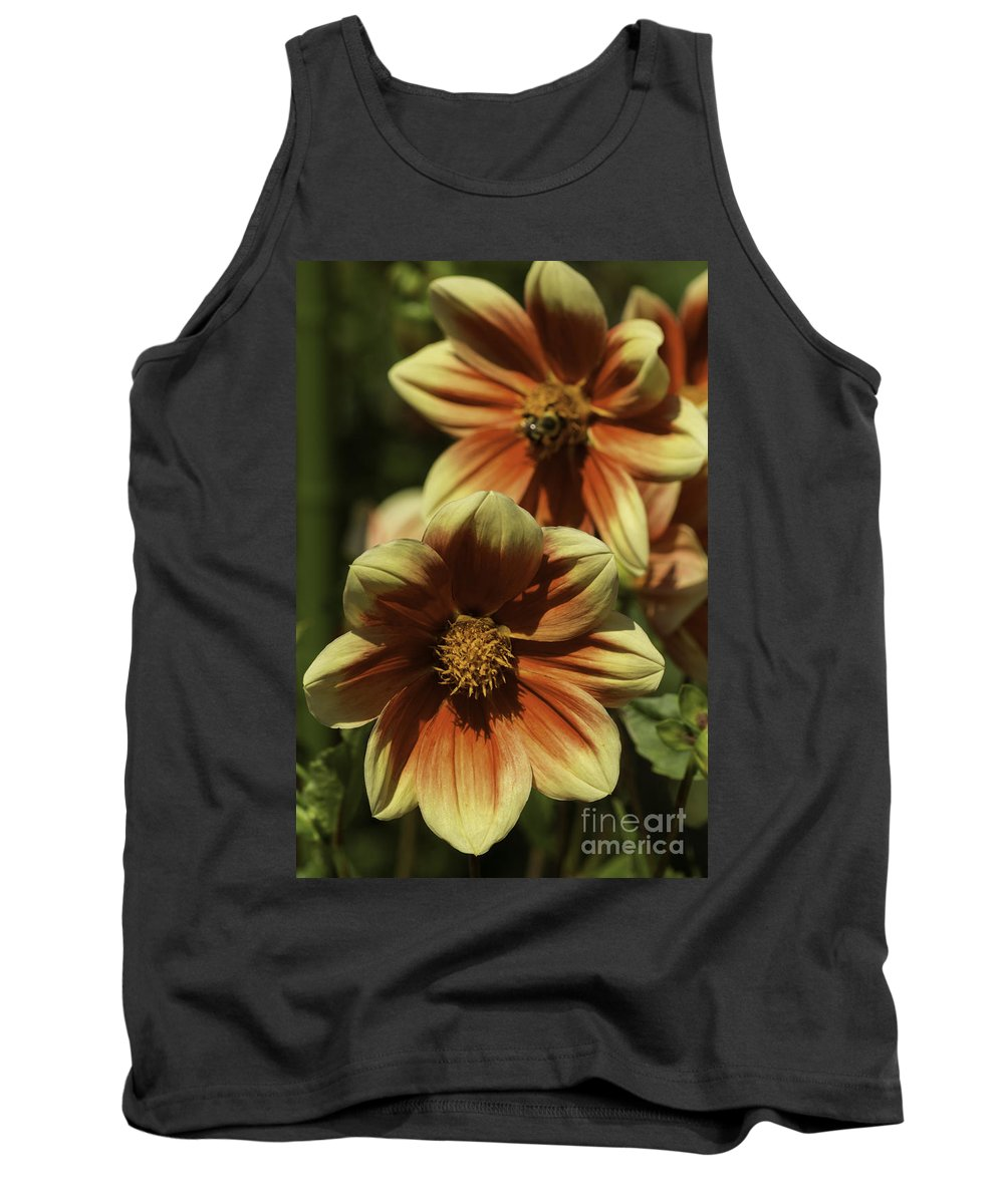 Abstract Tank Top featuring the photograph Dahlia Tandem by Joe Geraci