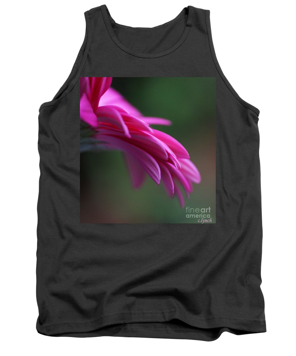 Pink Tank Top featuring the photograph Daisy Petals by Carol Lynch