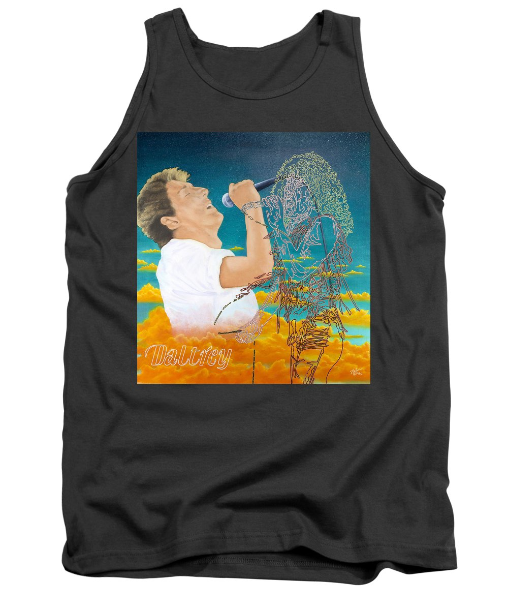 Roger Daltrey Tank Top featuring the painting Daltrey by Sue Brehm