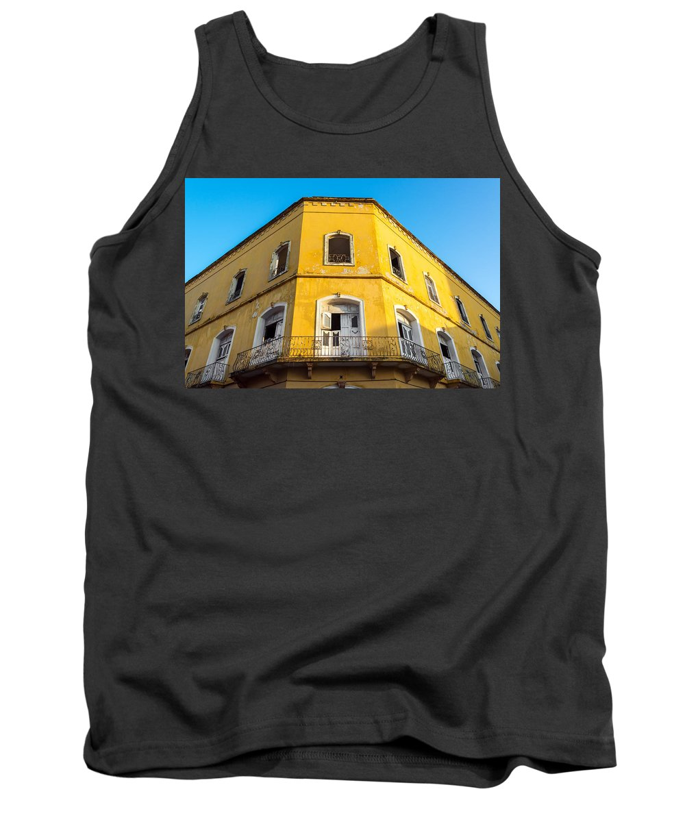 Colombia Tank Top featuring the photograph Damaged Colonial Building by Jess Kraft