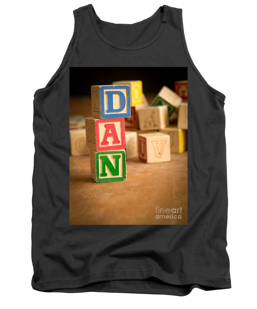 Abs Tank Top featuring the photograph Dan - Alphabet Blocks by Edward Fielding