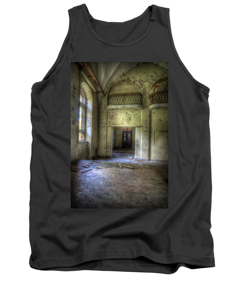 Urbex Tank Top featuring the digital art Dance With Balcony's by Nathan Wright