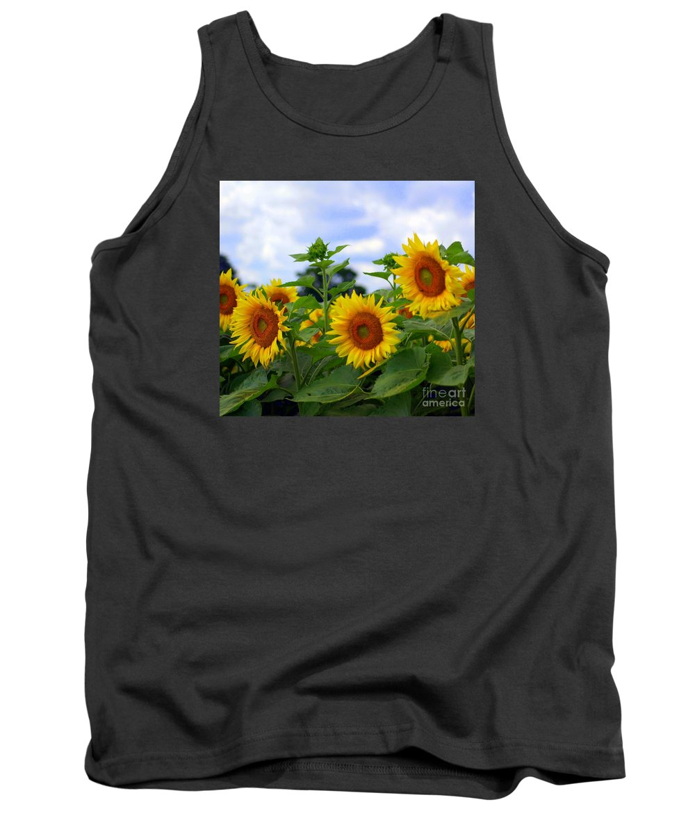 Sunflower Tank Top featuring the photograph Dancing Sunflowers by Kathleen Struckle
