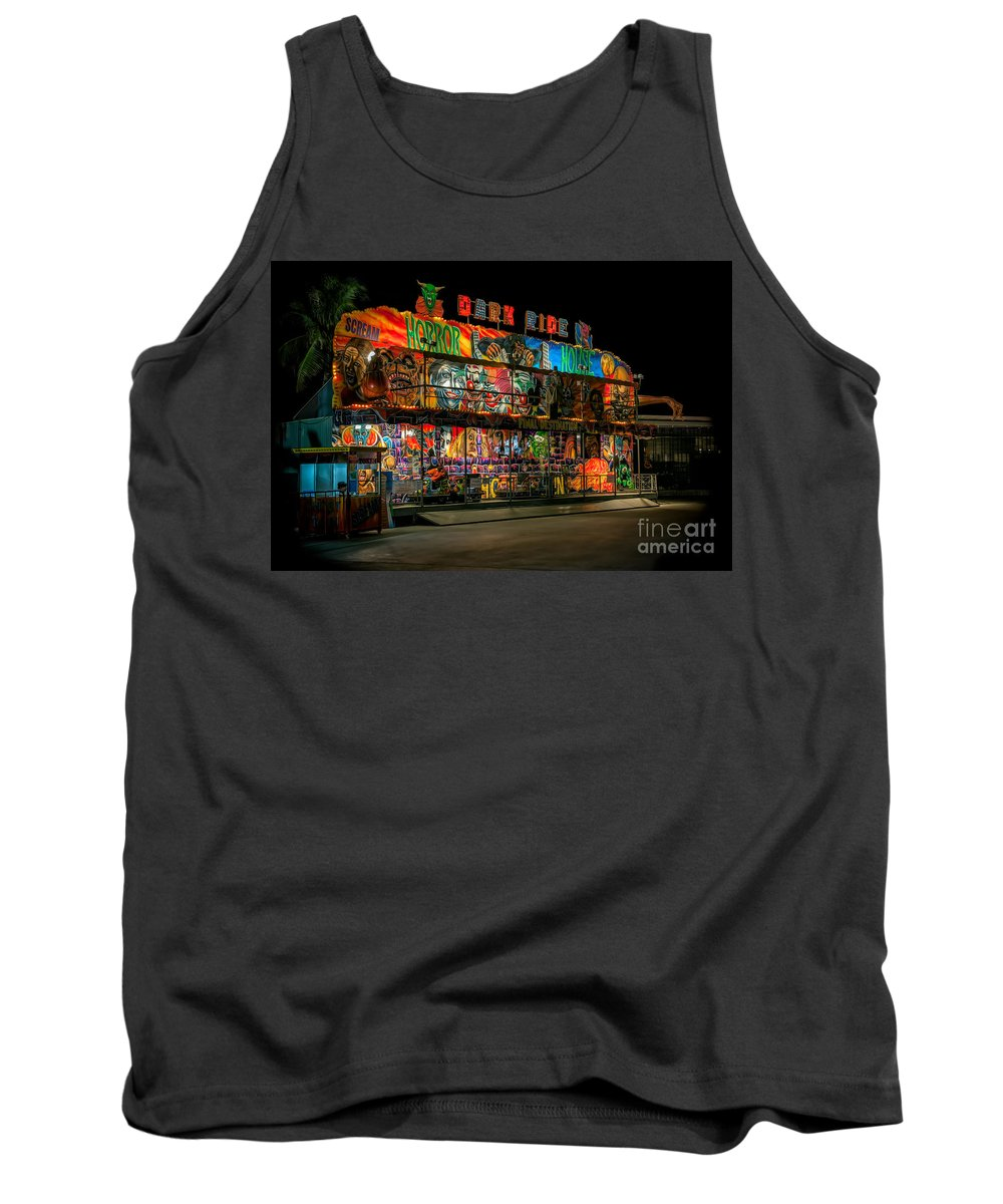 Hdr Tank Top featuring the photograph Dark Ride by Adrian Evans