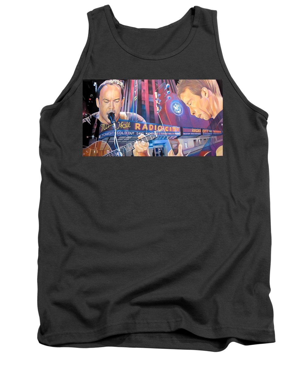 Dave Matthews Tank Top featuring the drawing Dave Matthews And Tim Reynolds Live At Radio City by Joshua Morton