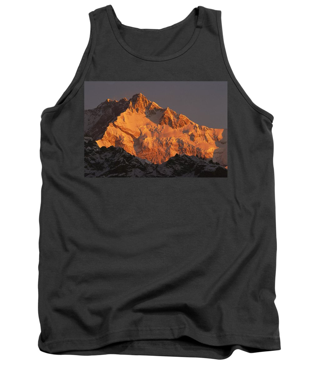 Feb0514 Tank Top featuring the photograph Dawn On Kangchenjunga Talung by Colin Monteath
