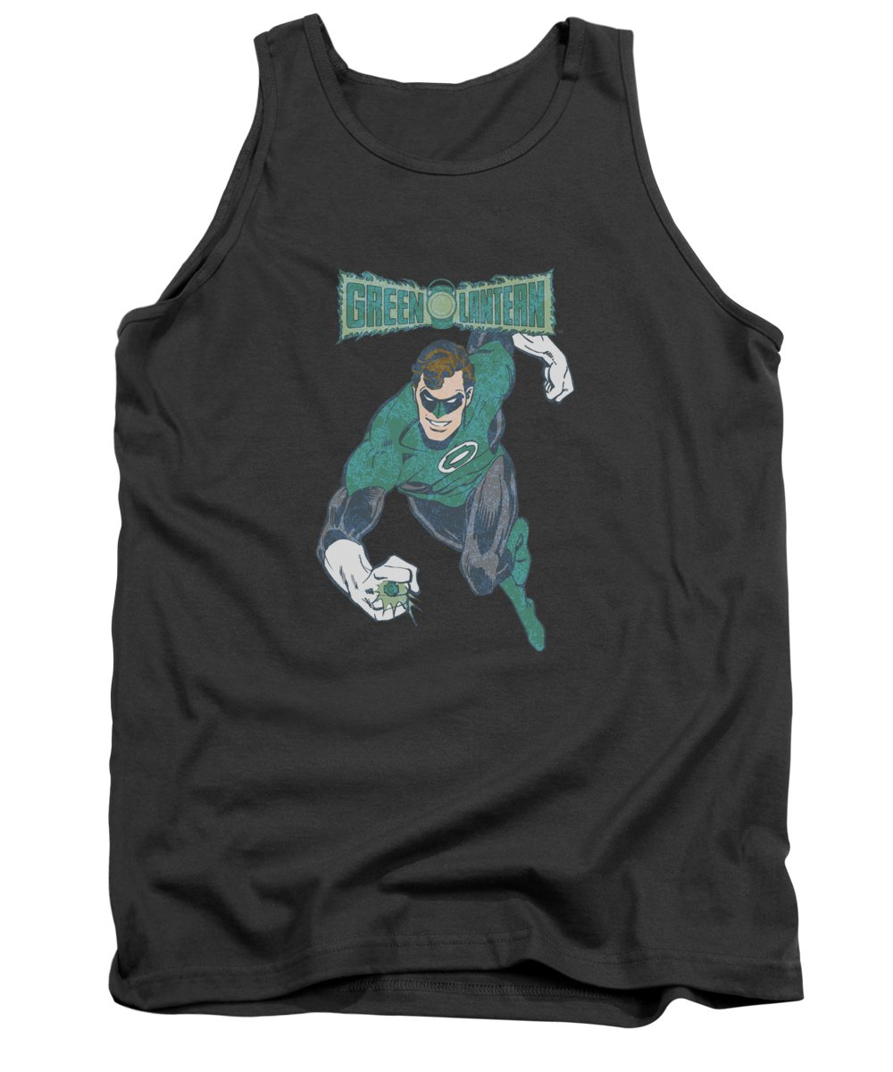 Dc Comics Tank Top featuring the digital art Dco - Desaturated Green Lantern by Brand A