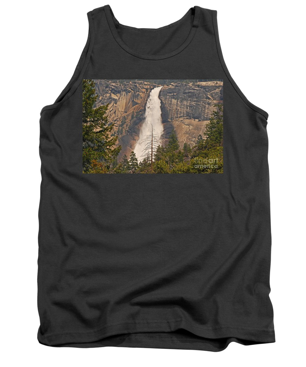 Waterfall Tank Top featuring the photograph Dead Pine Tree by Mary Carol Story