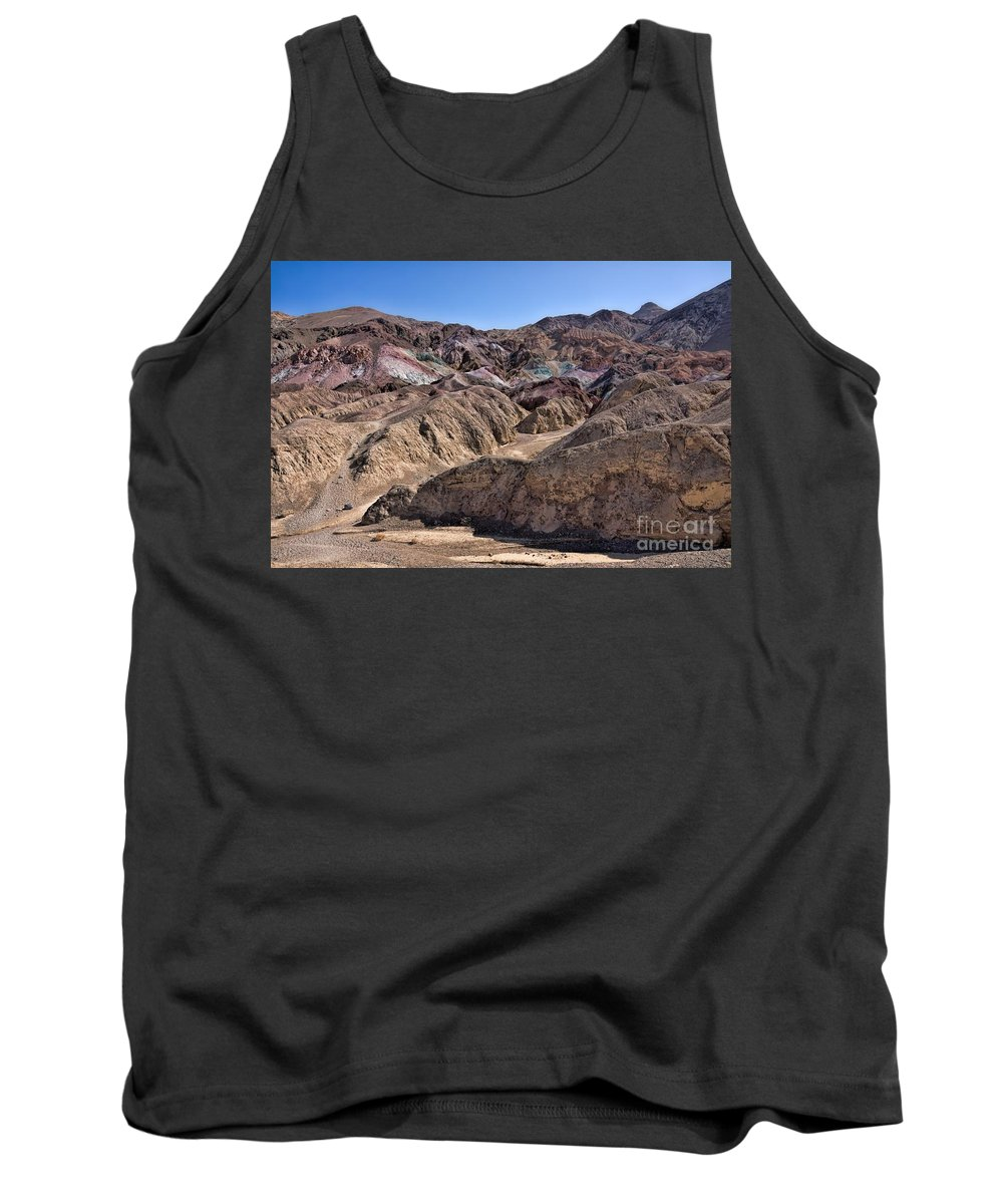 California Tank Top featuring the photograph Death Valley Artist Pallet by Peggy Hughes
