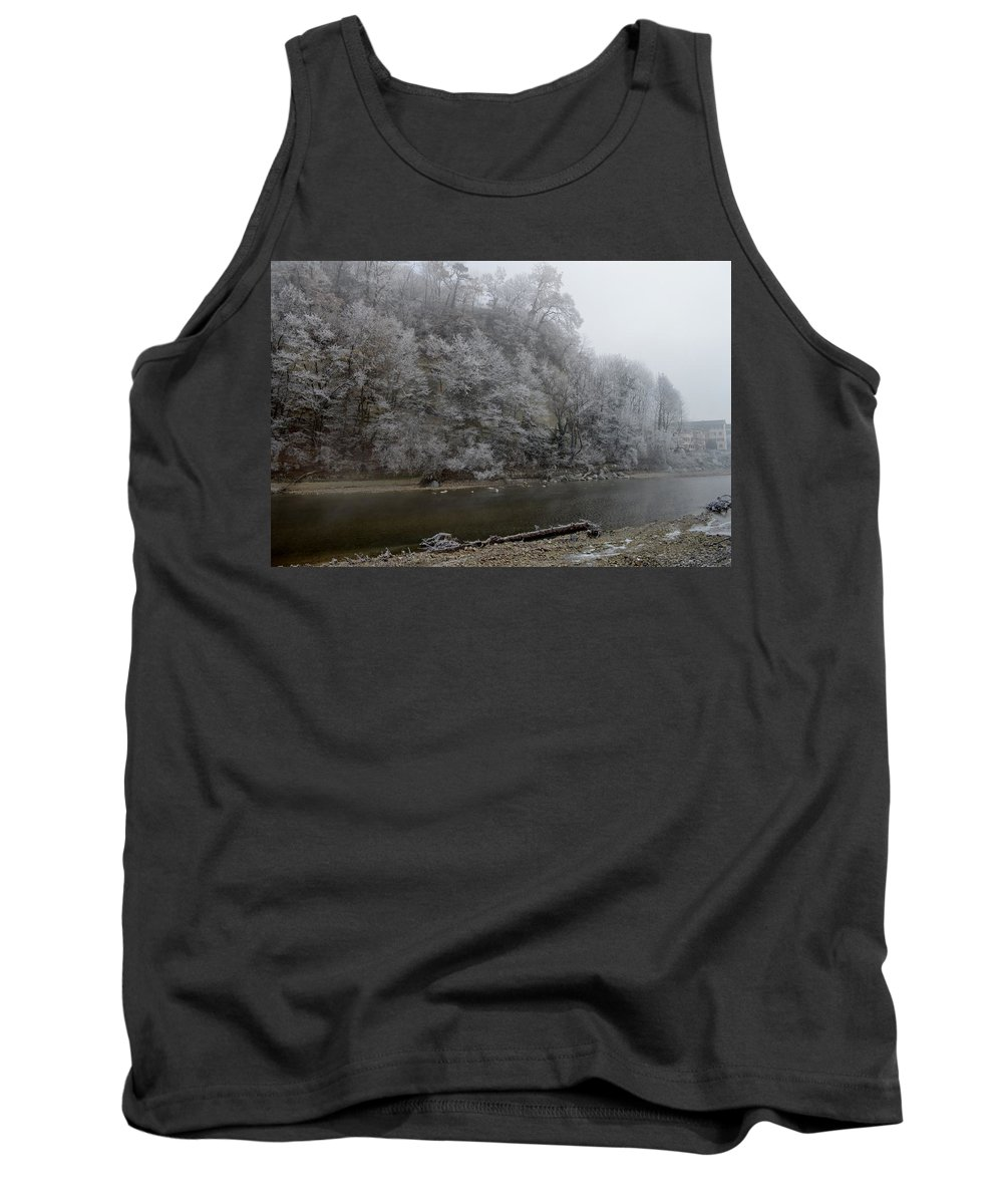 Landscape Tank Top featuring the photograph December Morning On The River by Felicia Tica