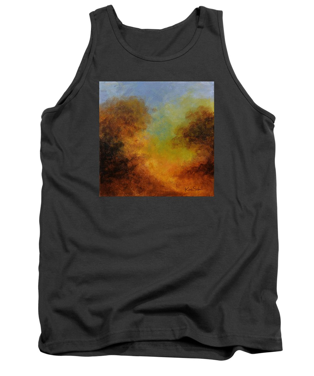 Hudson River School Tank Top featuring the painting Deep In The Hedgerow by Kim Sobat