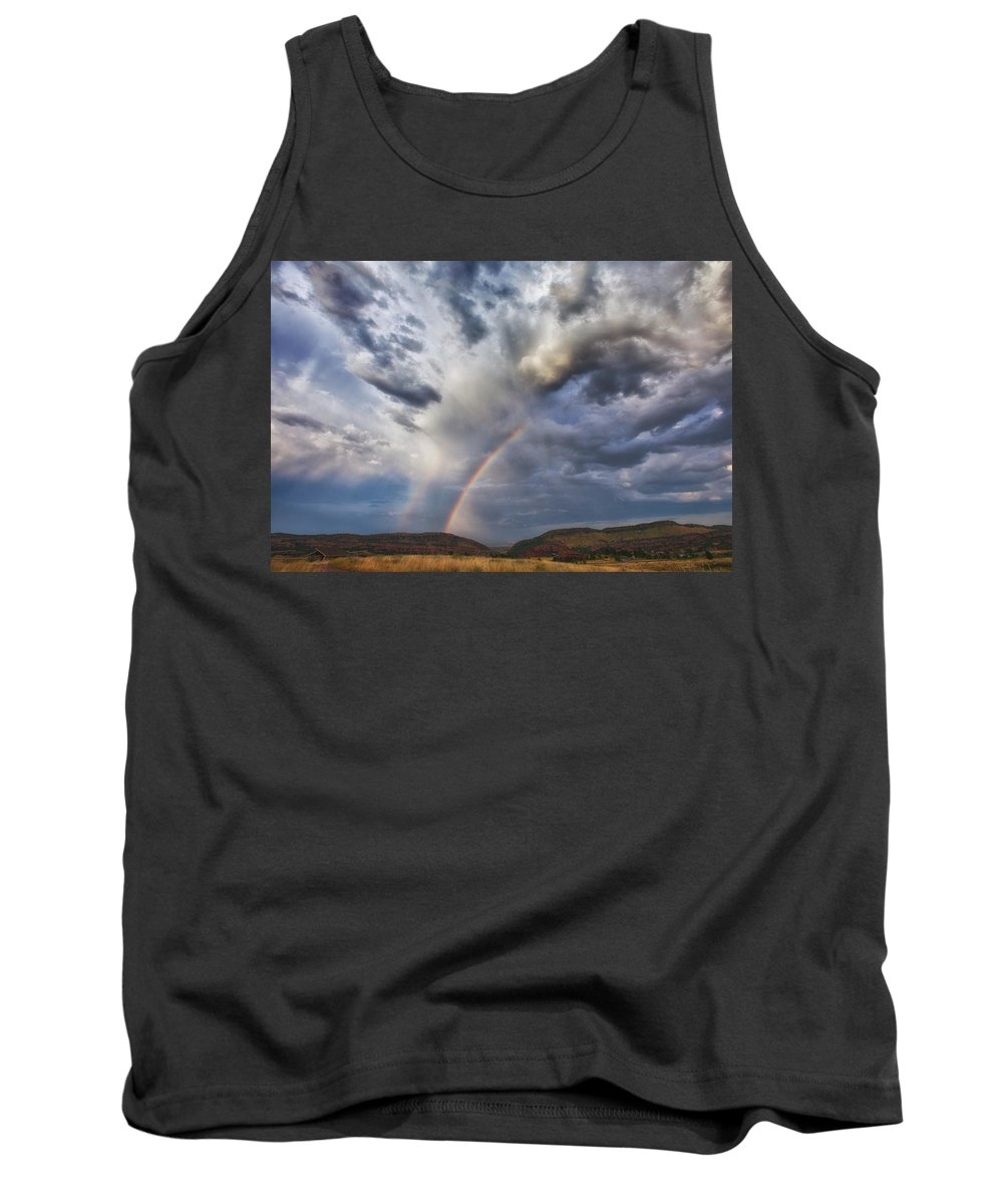 Storm Tank Top featuring the photograph Deer Creek Storm by Darren White