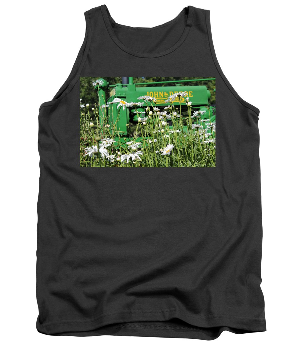 Farm Tank Top featuring the photograph Deere 1 by Lynn Sprowl