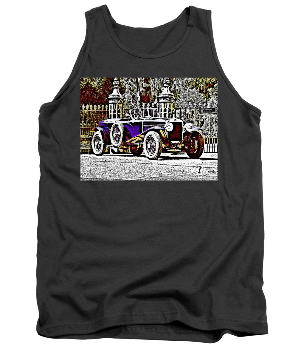 Car Tank Top featuring the photograph Delage Co2 Dupla Cowl Tourer by Lyriel Lyra
