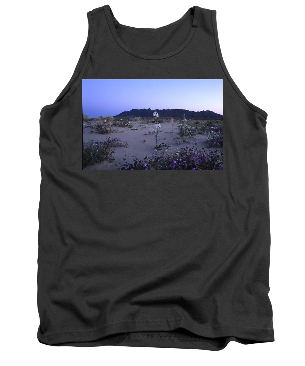 California Tank Top featuring the photograph Desert Lily Sanctuary California by Susan Rovira