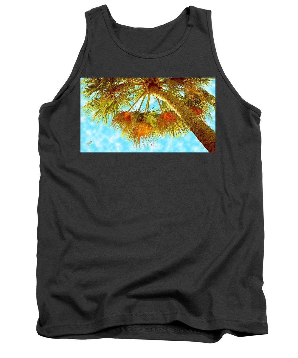 Palm Tree Tank Top featuring the photograph Desert Palm by Ben and Raisa Gertsberg