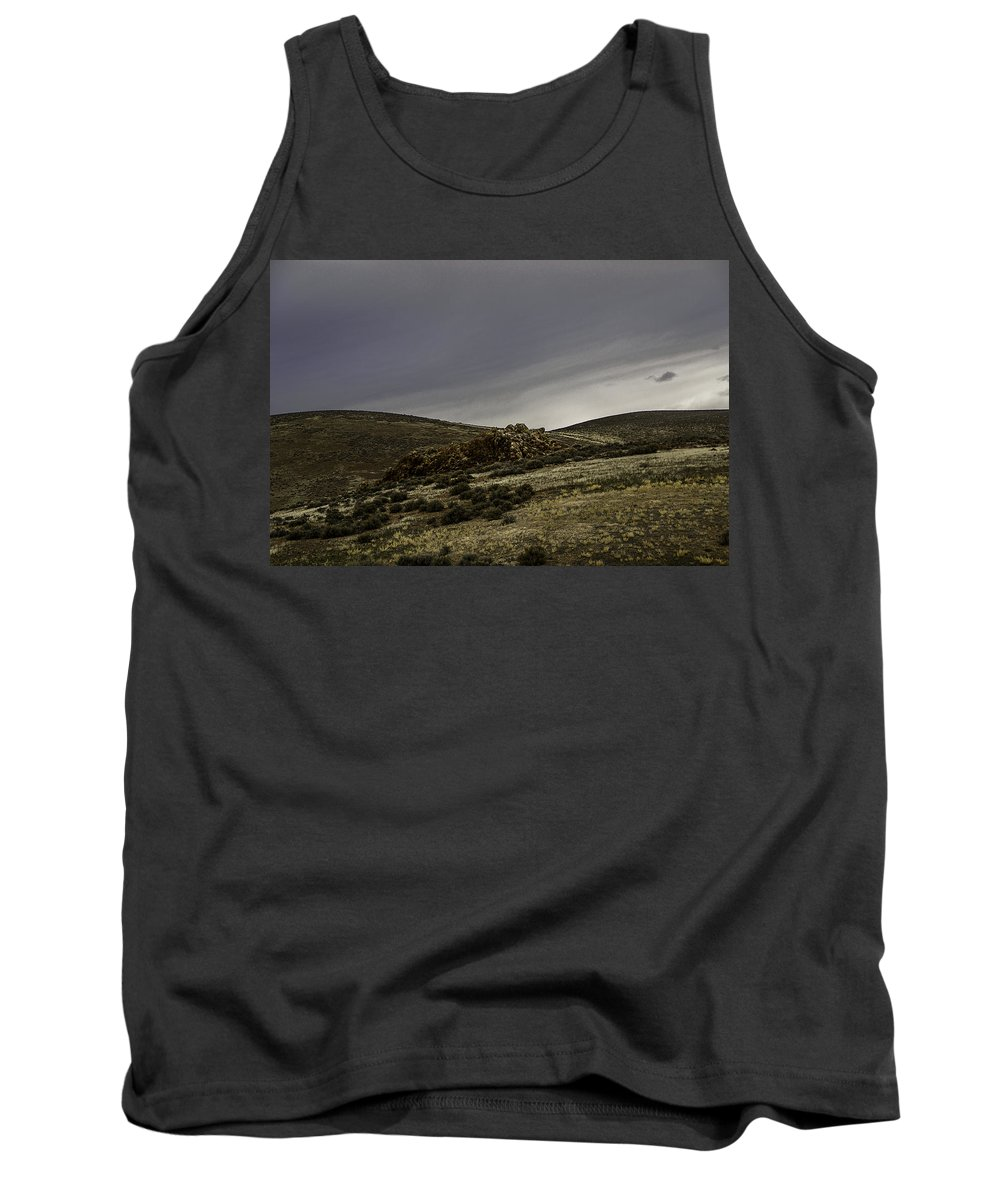 Disaster Peak Road Tank Top featuring the photograph Desert Rocks by Karen W Meyer