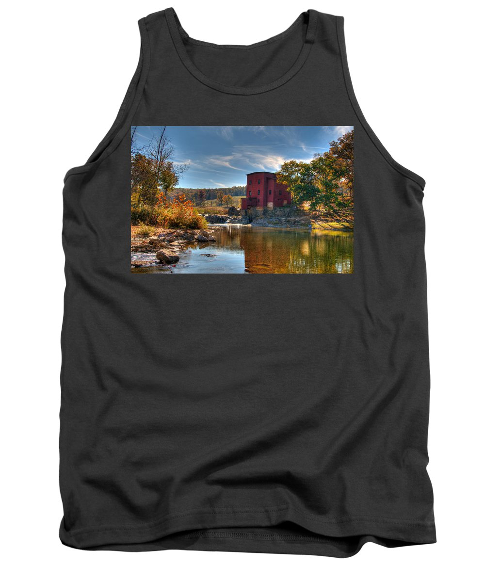 Mill Tank Top featuring the photograph Dillard Mill by Steve Stuller