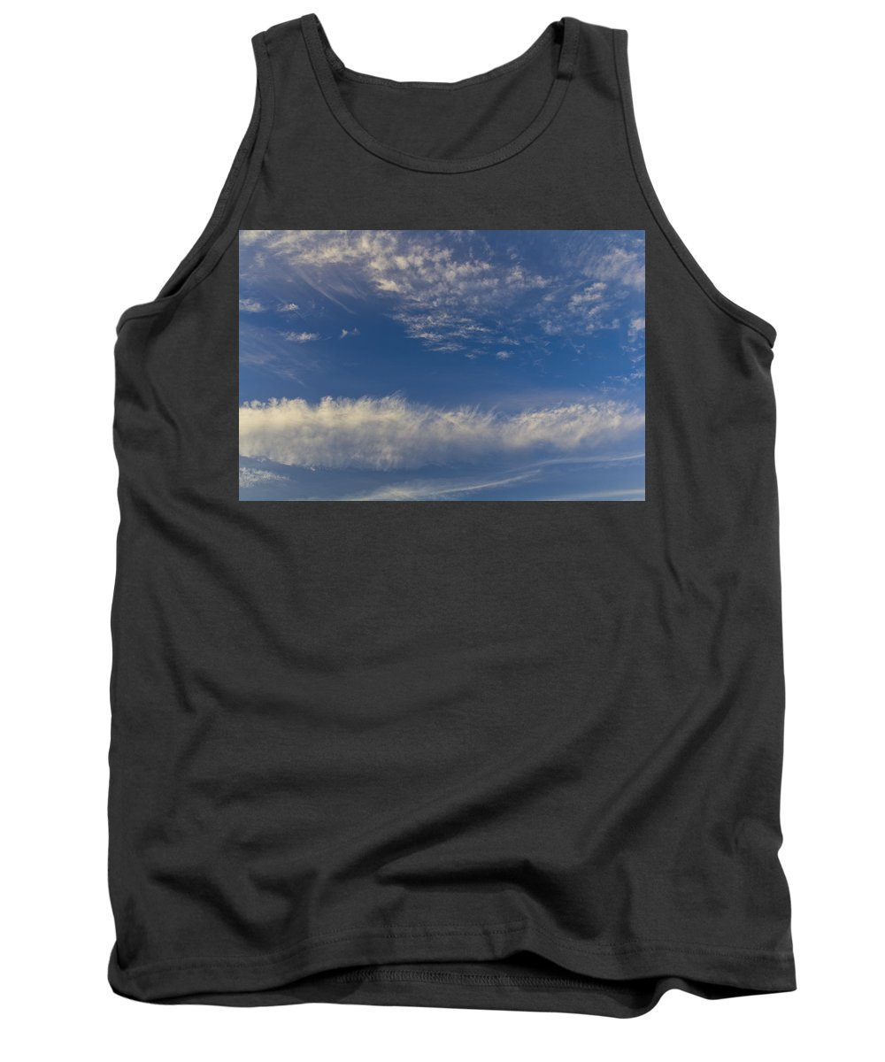 Swirling Clouds Tank Top featuring the photograph Distant Clouds by David Pyatt