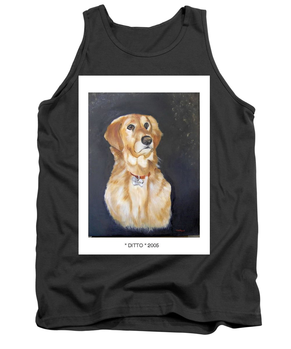 Dogs Tank Top featuring the painting Ditto by Catherine Swerediuk