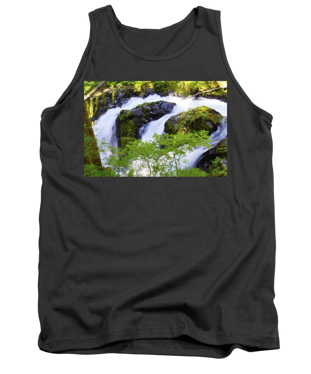 Water Fall Tank Top featuring the photograph Divergence by Tayne Hunsaker