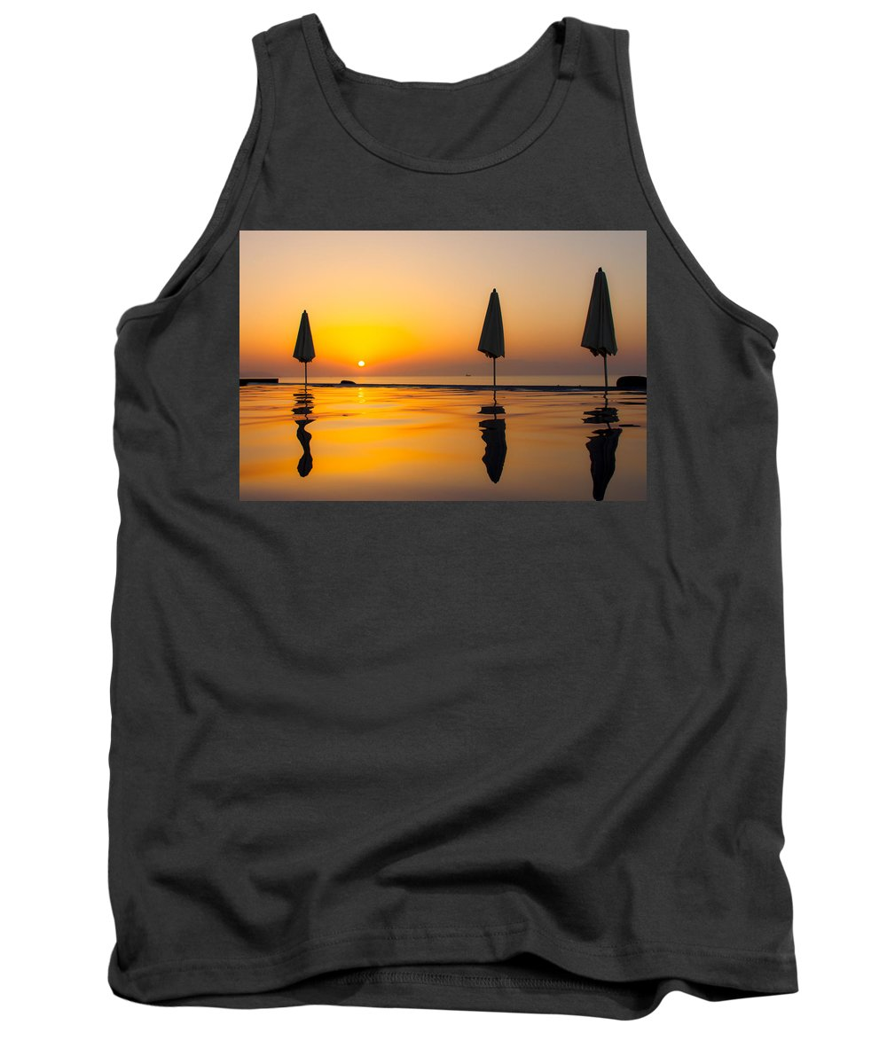 Afrika Tank Top featuring the photograph Djibouti Sunset by Alex Hiemstra