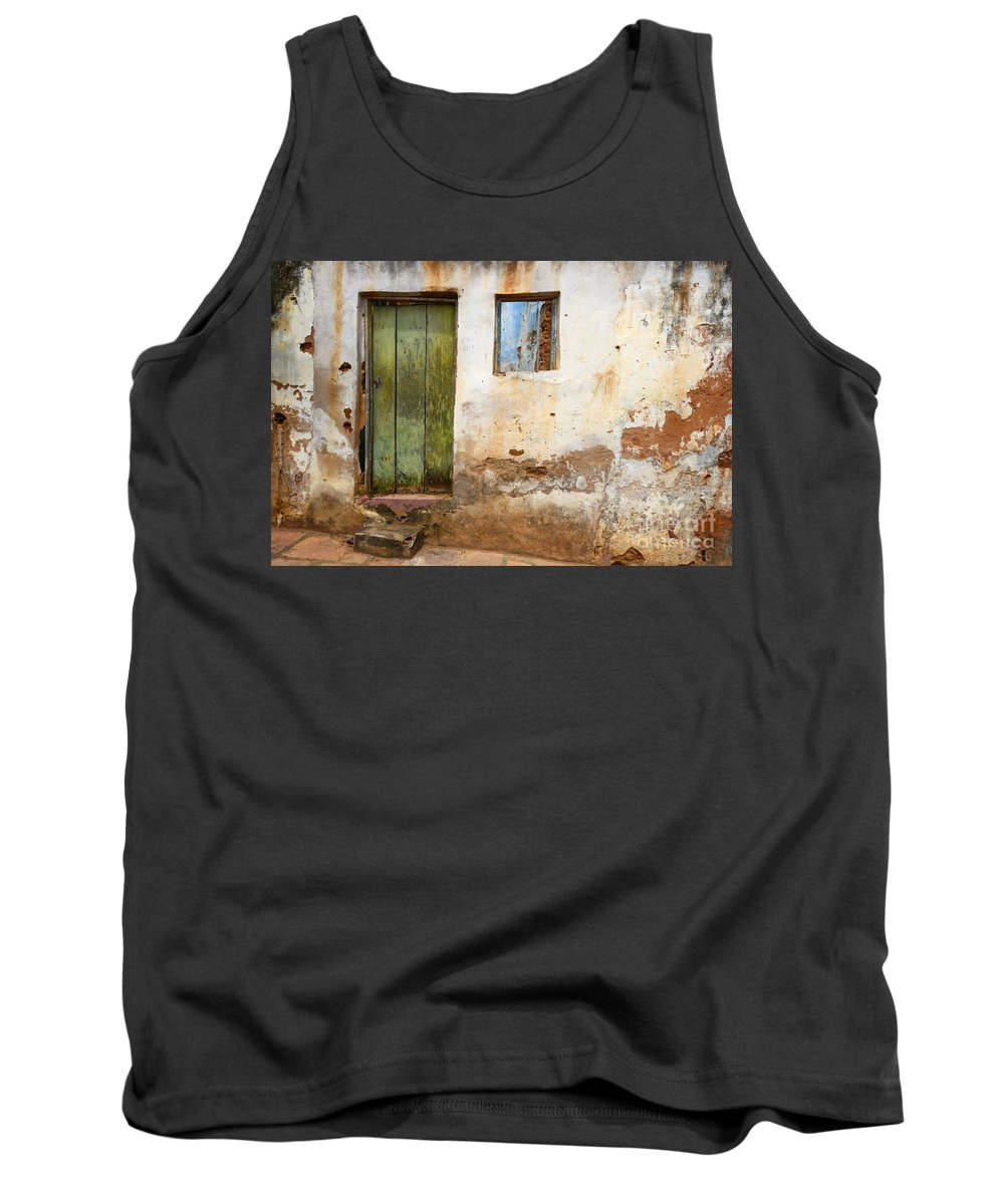 Door Tank Top featuring the photograph Doors And Windows Lencois Brazil 4 by Bob Christopher