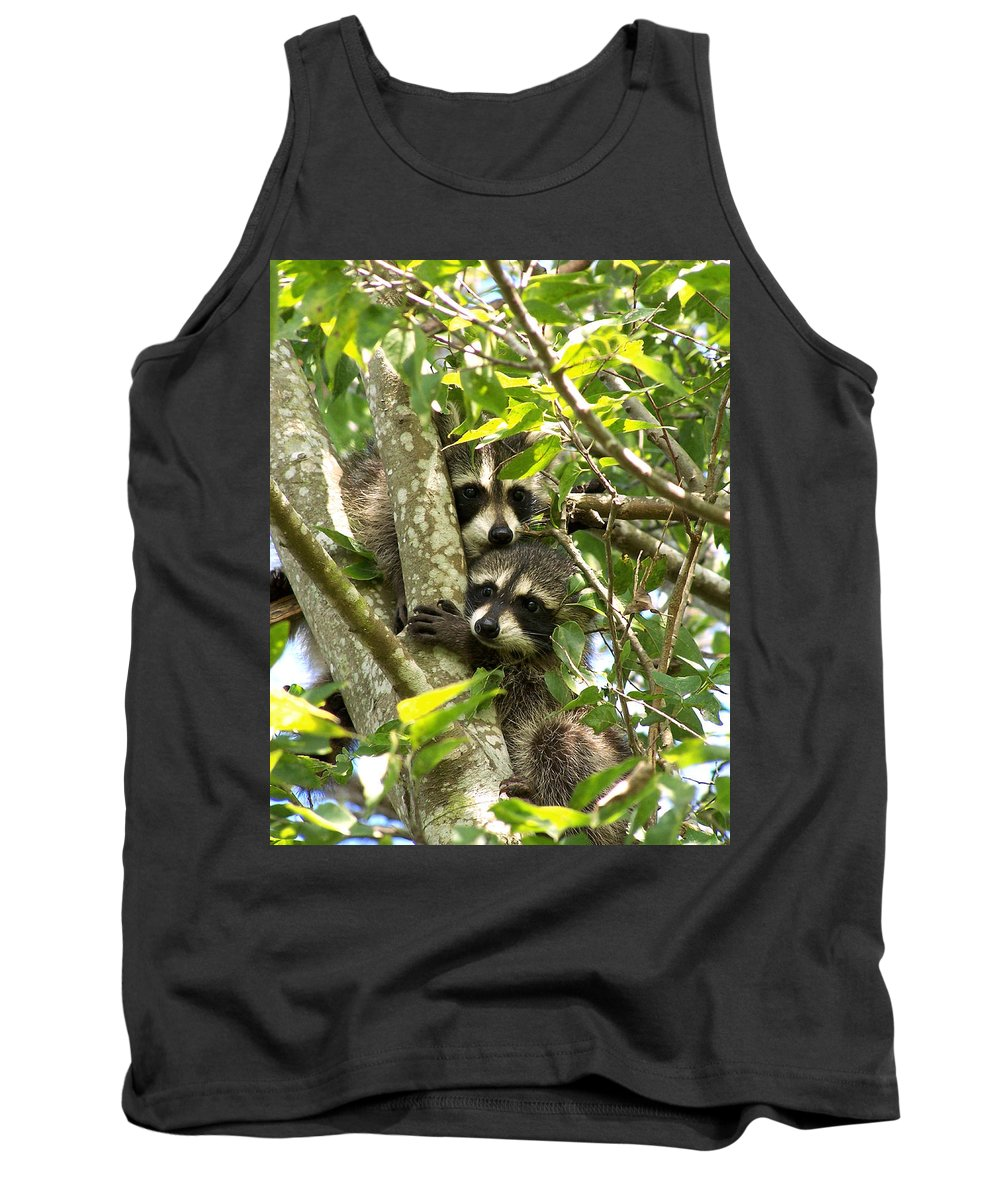 Nature Tank Top featuring the photograph Double Trouble by Peg Urban
