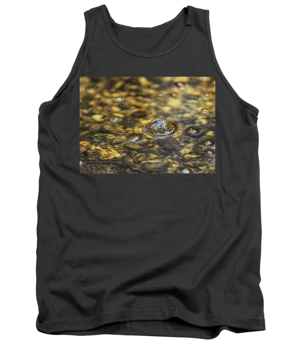 Bubble Tank Top featuring the photograph Down By The Bubbling Spring by Susan Capuano
