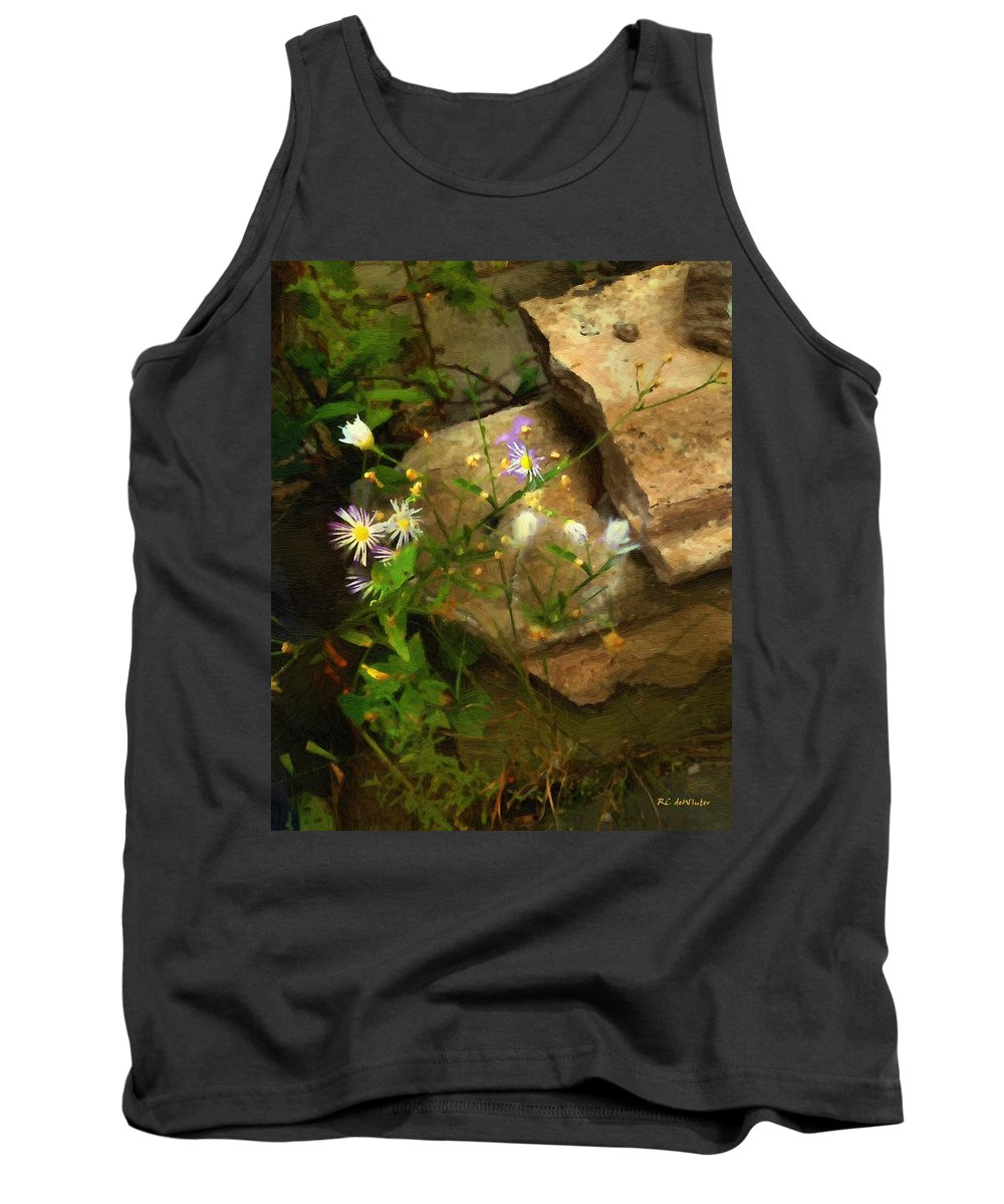 Night Tank Top featuring the painting Down By The Creek by RC DeWinter