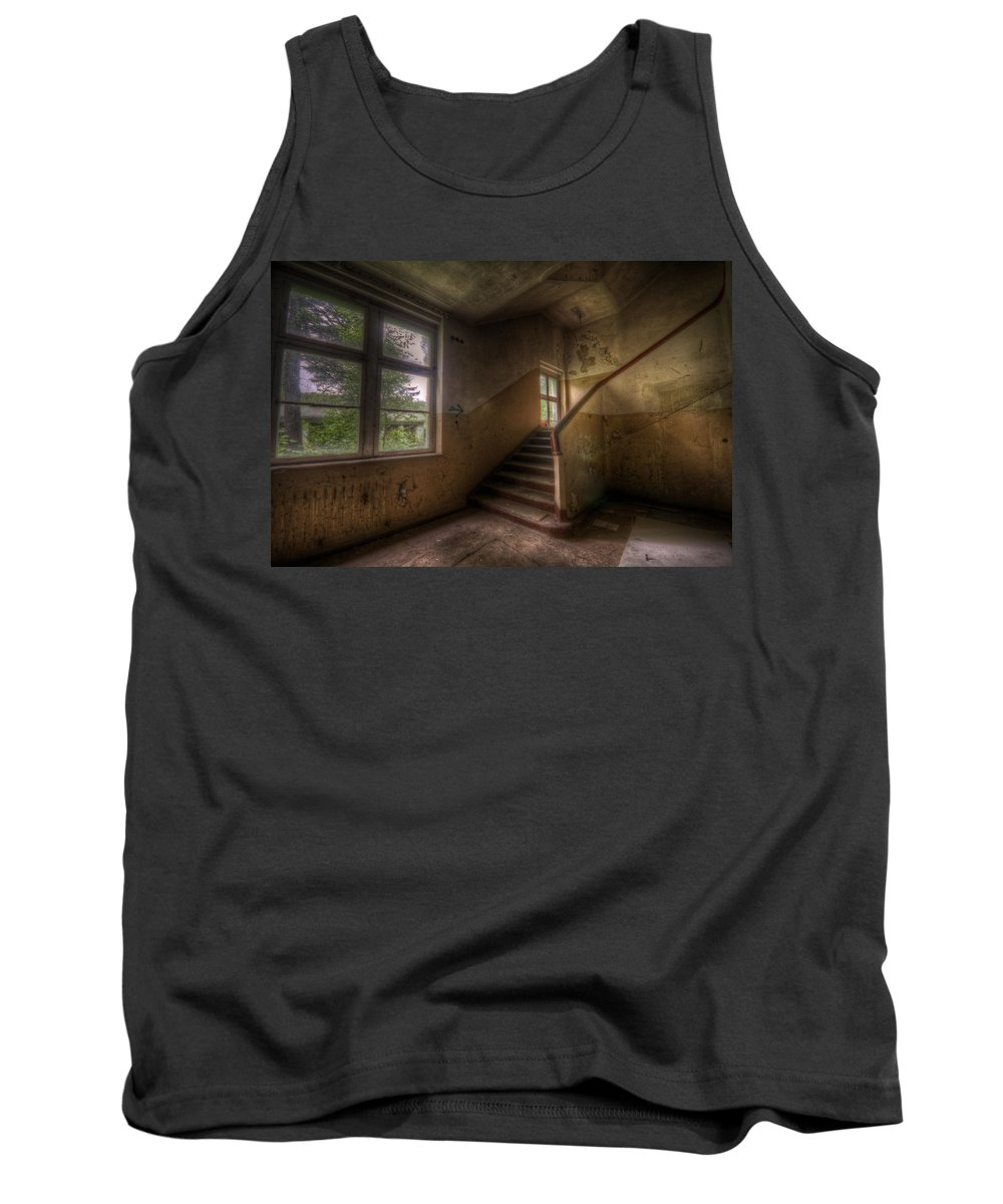 Soviet Tank Top featuring the digital art Down Stairs by Nathan Wright
