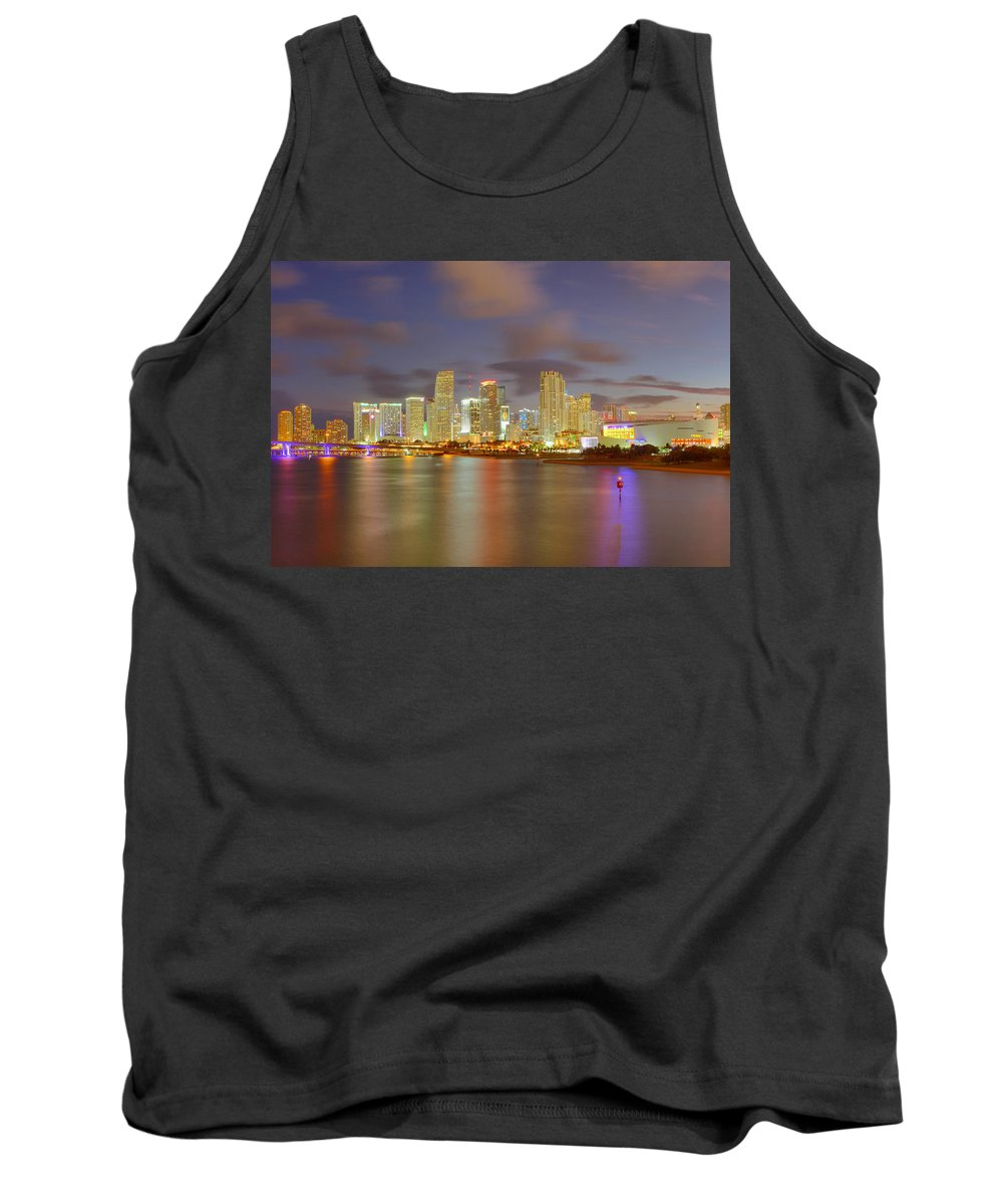 United States Tank Top featuring the photograph Downtown Miami And Aaa by Claudia Domenig